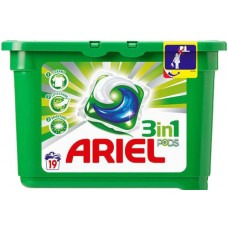 Капсулы для стирки ARIEL 3 in 1 Pods white 19 шт
