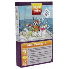 Витамины MULTI-TABS Mini Omega-3, 30 табл