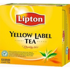 Чай Lipton Yellow Label Tea 100 пакетов