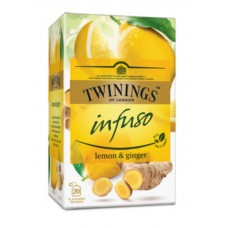 Чай Twinings Infuso lemon & ginger, 20x1,5 гр
