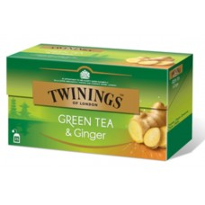 Чай Twinings Green & Ginger, 25x1,6 гр