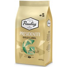 Кофе зерновой Paulig Presidentti Gold Label (степень обжарки 2), 400 гр