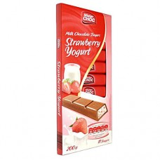 Шоколад Mister Choc Strawberry & Yogurt молочный 200 гр