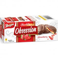 "Печенье Bergen ""Obsession"" Strawberry 145 гр"