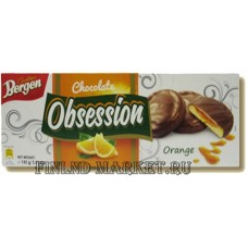 Печенье BERGEN Chokolate OBSESSION ORANGE (апельсин), 145 гр