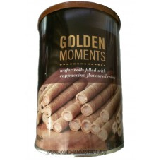 Вафельные трубочки Golden Moments Cappuccino flavored creme капучино 400 гр