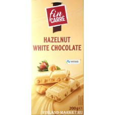 Шоколад белый fin KARRE Hazelnut White Chocolate (с цельным фундуком), 200 гр
